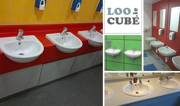 Toilet cubicles, panelling and washroom fittings in Dublin.