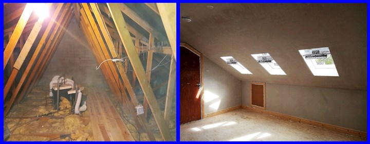 Attic conversion in Limerick, before and after