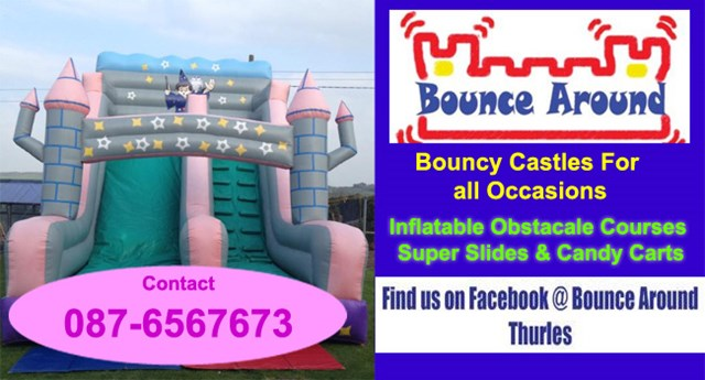 Bouncing castle for hire in Tipperary.