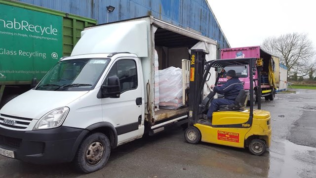 Vandel Couriers have modern curtain sided trucks suitable for easy loading.