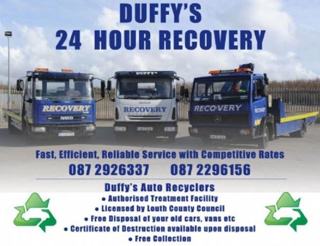 Duffys 24/ 7 Breakdown Recovery Dundalk.