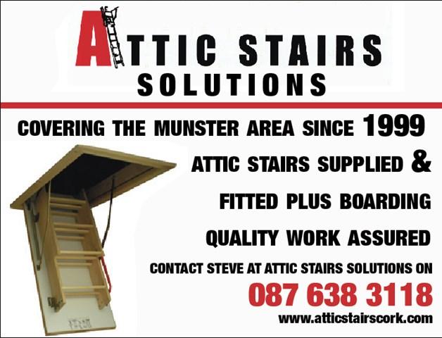 attic stairs cork