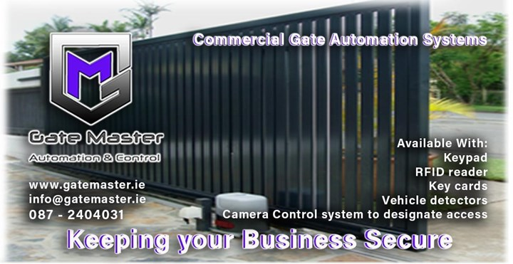 Commercial automatic gates fitted in Donegal