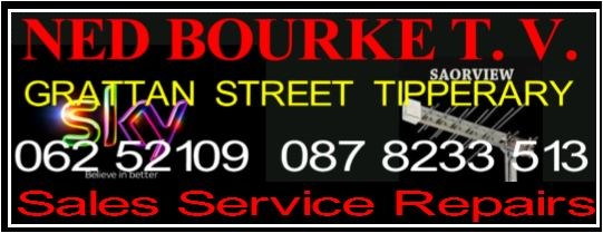 Ned Bourke TV & Satellite Sales and Repairs tipperary.