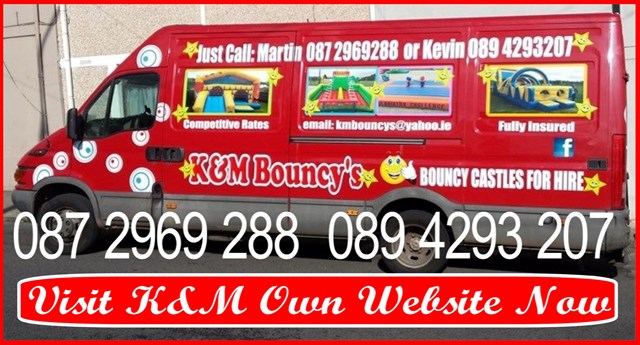 Bouncing Castles for hire East Cork.