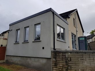 Finished exterior of house extension in Cork City built by Bellview