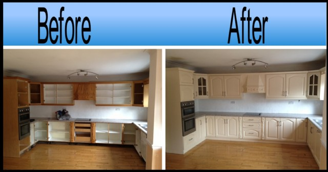 Kitchen Respray Paint Services Dublin