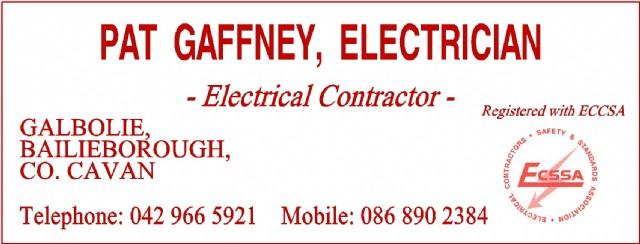 Pat Gaffney Electrician Bailieborough