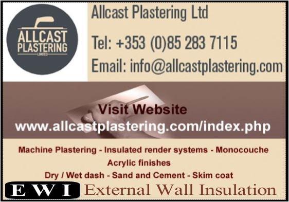 Allcast Plastering Subcontractors Dublin