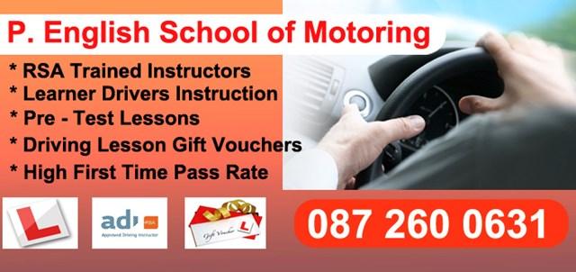 Pechelli English's Driving School Enniscorthy County Wexford.