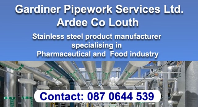 Gardiner Pipeworks manufacturere County Louth.