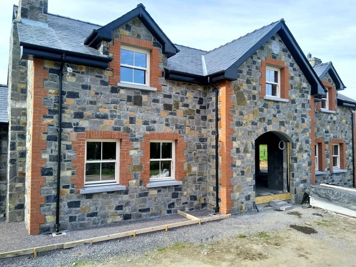 Stone house in Kildare built by AT Stonemason