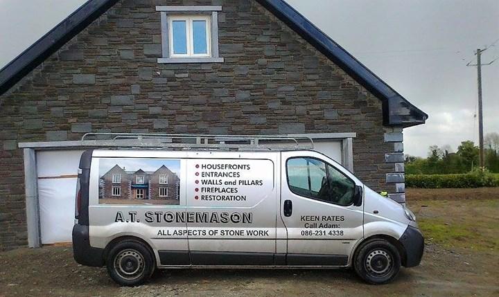 AT Stonemason in Kildare van
