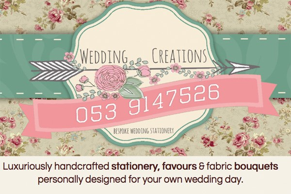 Wedding stationary in Leinster.
