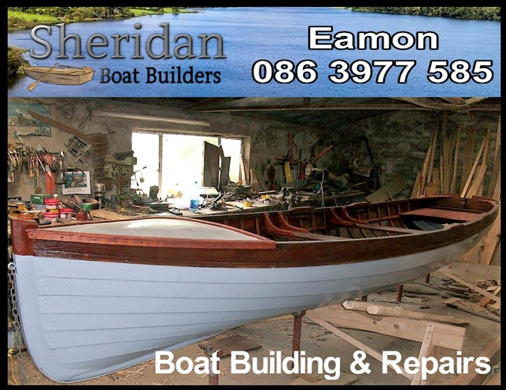Wooden boat builder logo